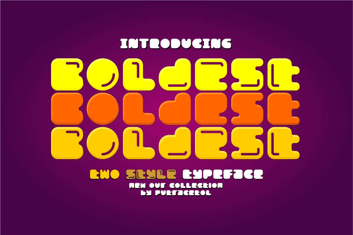 Download Free Boldest Font By Putracetol Creative Fabrica for Cricut Explore, Silhouette and other cutting machines.