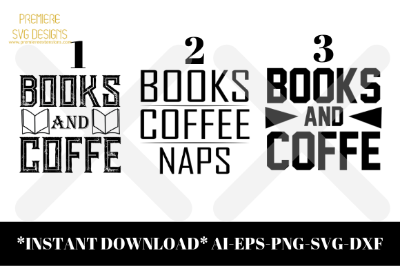 Download Free Books Coffee Naps Bundle Graphic By Premiereextensions for Cricut Explore, Silhouette and other cutting machines.