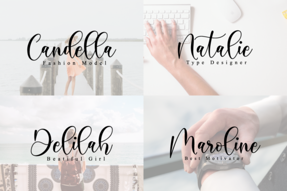 Print on Demand: Boshela Script Script & Handwritten Font By NissaStudio - Image 2