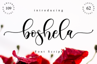 Print on Demand: Boshela Script Script & Handwritten Font By NissaStudio
