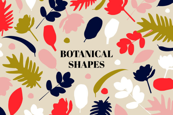 Botanical Shapes Pattern Set Graphic Patterns By Bron Alexander