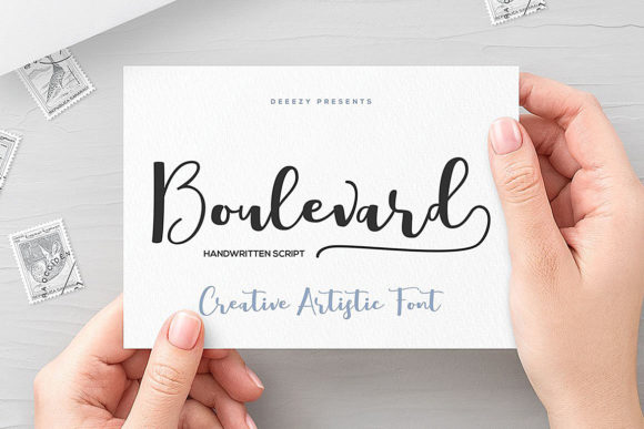Print on Demand: Boulevard Script & Handwritten Font By JumboDesign