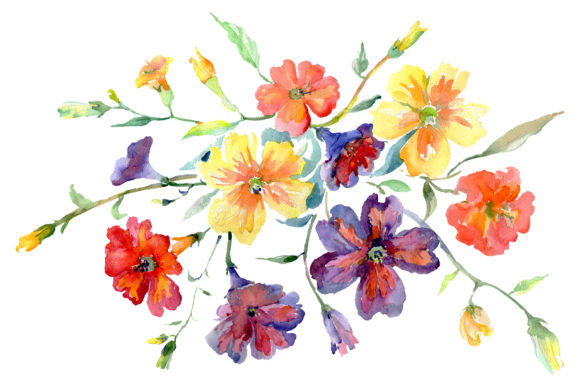 Download Free Bouquet Flower Boom Watercolor Grafico Por Mystocks Creative for Cricut Explore, Silhouette and other cutting machines.
