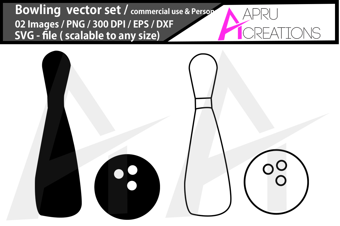 Download Free Bowling Bowling Silhouette Bowling Graphic By Aparnastjp for Cricut Explore, Silhouette and other cutting machines.