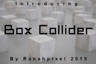Box Collider Font By Ranahpixel
