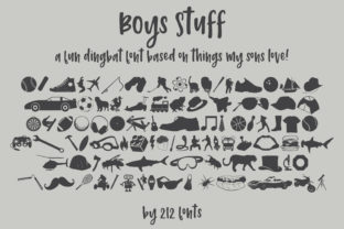 Print on Demand: Boys Stuff Dingbats Font By 212 Fonts
