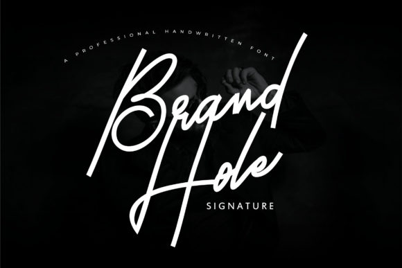 Print on Demand: Brand Hole Script & Handwritten Font By Vunira
