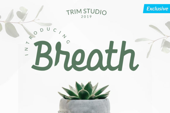 Print on Demand: Breath Script & Handwritten Font By Trim Studio