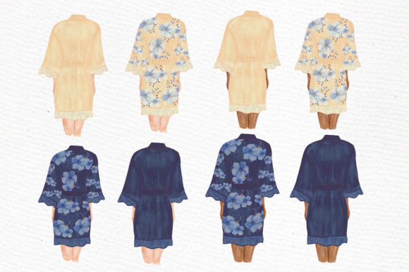 Bridesmaid Clip Art Watercolor Robes Graphic Illustrations By LeCoqDesign - Image 2