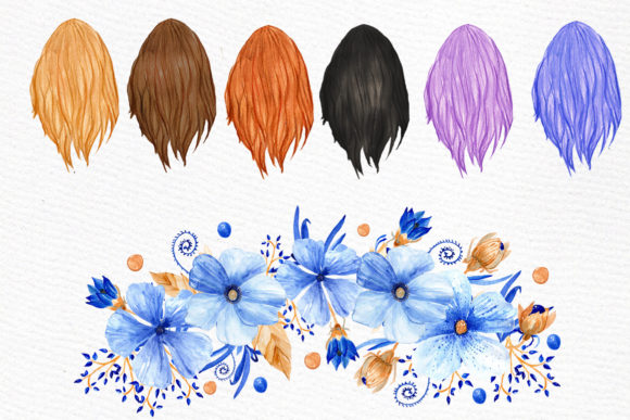 Bridesmaid Clip Art Watercolor Robes Graphic Illustrations By LeCoqDesign - Image 4