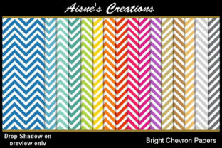 Bright Chevron Paper Pack Graphic By Aisne