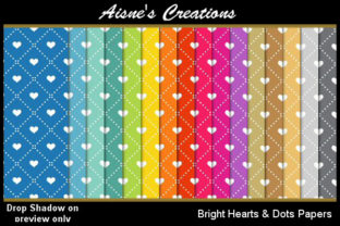 Bright Hearts & Dots Paper Pack Graphic By Aisne