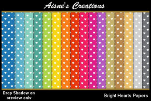 Bright Hearts Paper Pack Graphic By Aisne
