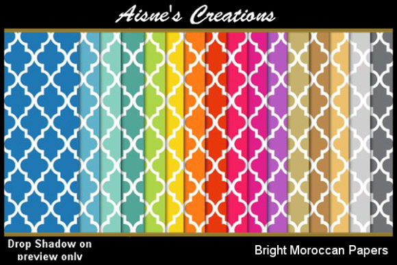 Bright Moroccan Paper Pack Graphic By Aisne