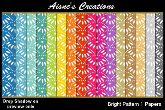 Bright Pattern Paper Pack Graphic By Aisne