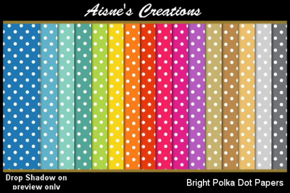 Print on Demand: Bright Polka Dot Paper Pack Graphic Backgrounds By Aisne