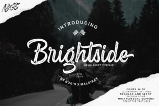 Print on Demand: Brightside Script & Handwritten Font By Andrie Nugrie