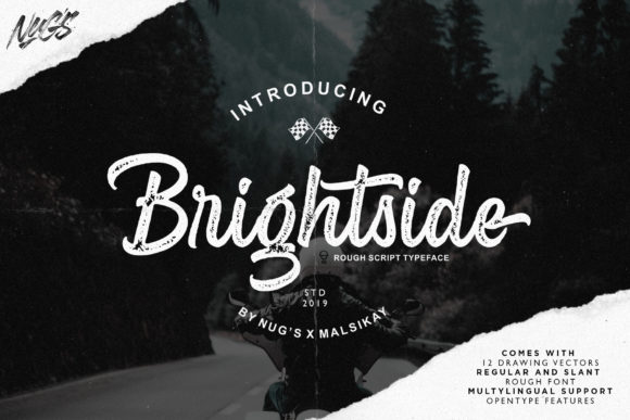 Brightside Script & Handwritten Font By Andrie Nugrie