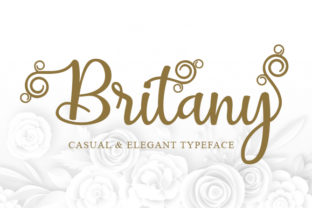 Print on Demand: Britany Script Script & Handwritten Font By utopiabrand19