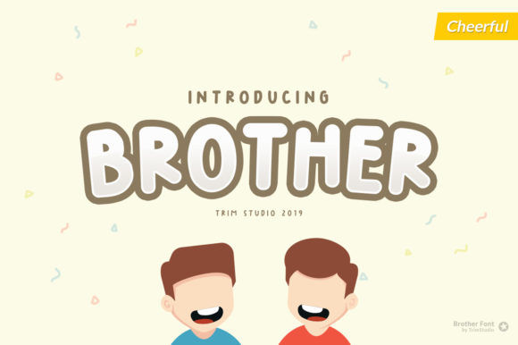 Brother Display Font By Trim Studio