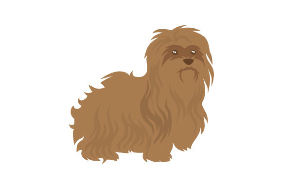 Brown Havanese Dog Dogs Craft Cut File By Creative Fabrica Crafts