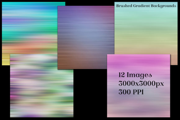 Brushed Gradient Backgrounds - 12 Images Graphic By SapphireXDesigns Image 2