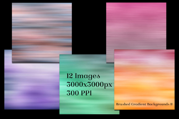 Print on Demand: Brushed Gradient Backgrounds II Graphic Backgrounds By SapphireXDesigns - Image 2