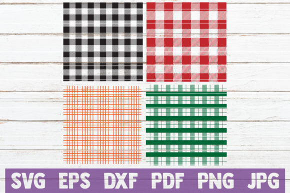 Buffalo Plaid Pattern SVG Cut Files Graphic Graphic Templates By MintyMarshmallows