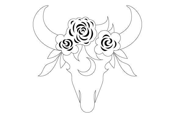 Download Free Bull Skull Svg Cut File By Creative Fabrica Crafts Creative for Cricut Explore, Silhouette and other cutting machines.