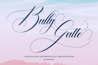 Bully Gatte Font By Natural Ink