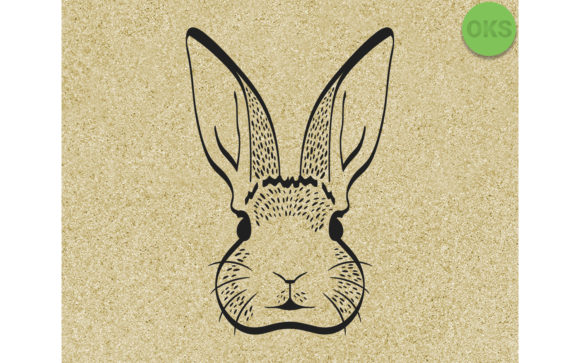 Download Free Bunny Rabbit Head Face Graphic By Crafteroks Creative Fabrica for Cricut Explore, Silhouette and other cutting machines.
