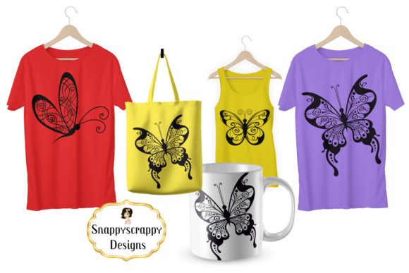 Butterflies- SVG Graphic By Snappyscrappy Image 2