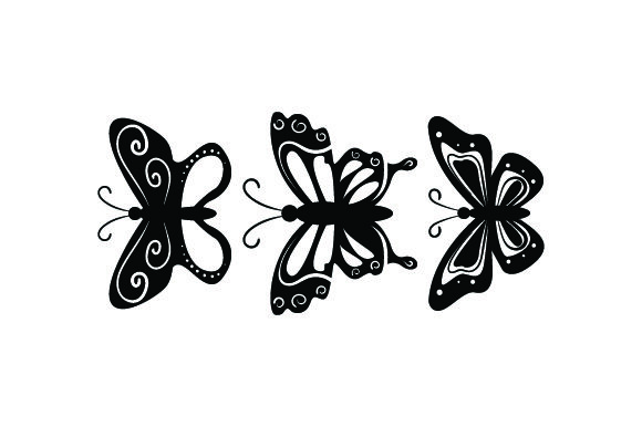 3 Butterflies Animals Craft Cut File By Creative Fabrica Crafts - Image 2
