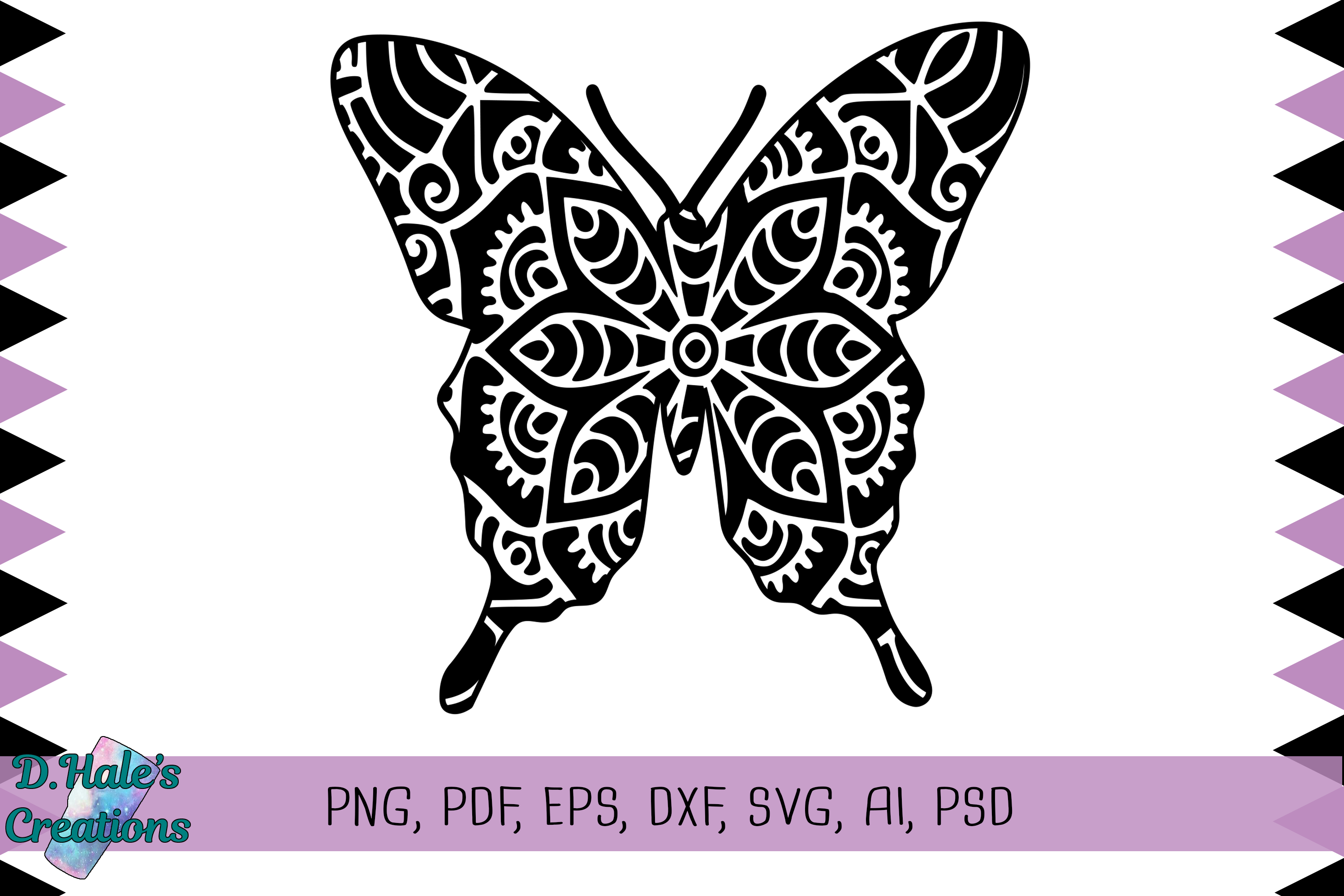 Download Free Butterfly Mandala Graphic By D Hale S Creations Creative Fabrica for Cricut Explore, Silhouette and other cutting machines.
