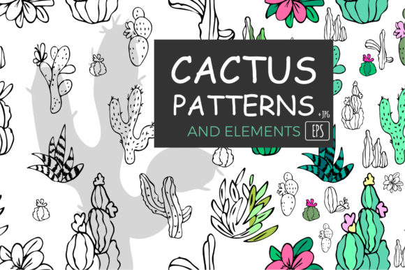 Download Free Cactus Illustrations Graphic By Valentyna Mohylei Creative Fabrica for Cricut Explore, Silhouette and other cutting machines.