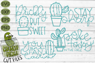 Cactus Puns SVG File Bundle Graphic By Crunchy Pickle