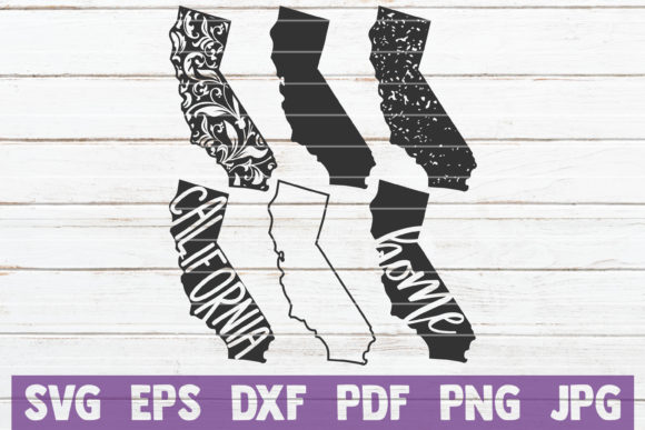 California State SVG Bundle Graphic Graphic Templates By MintyMarshmallows