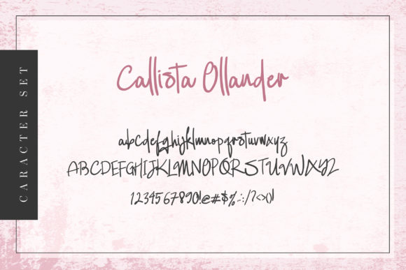 Print on Demand: Callista Ollander Script & Handwritten Font By agniardii - Image 6