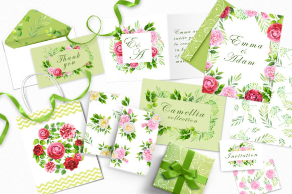 Camellia Watercolor Collection