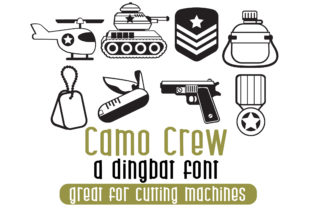 Camo Crew Font By Illustration Ink