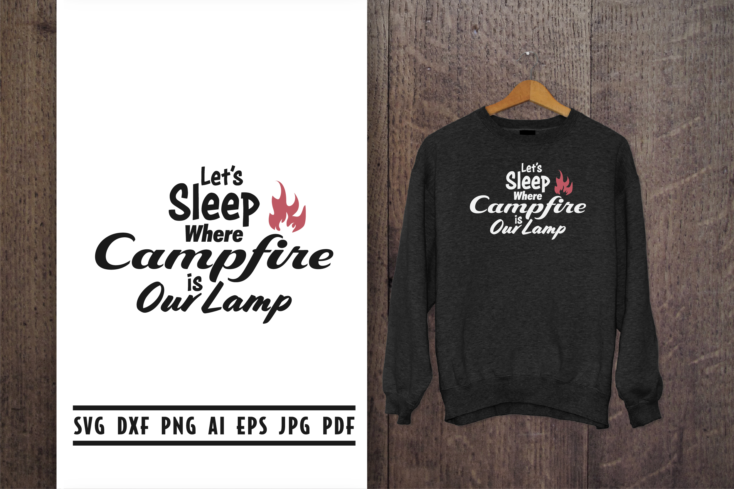 Download Free Camp Quote Lettering Graphic By Vectorbundles Creative Fabrica for Cricut Explore, Silhouette and other cutting machines.