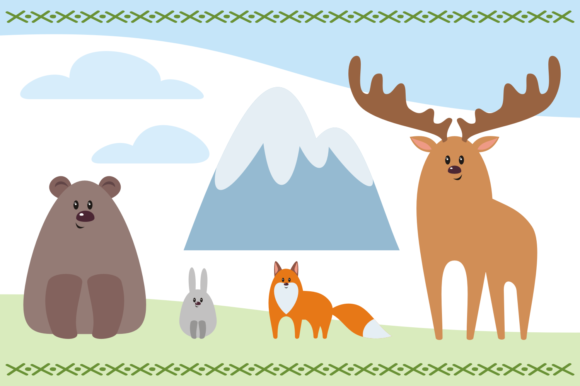 Print on Demand: Camping Life. Vector Cliparts. Graphic Illustrations By Olga Belova - Image 3