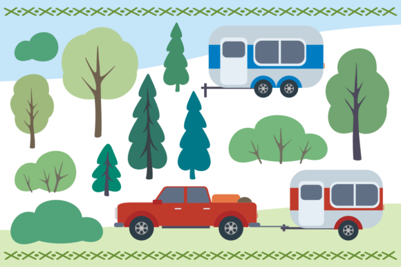 Print on Demand: Camping Life. Vector Cliparts. Graphic Illustrations By Olga Belova - Image 4