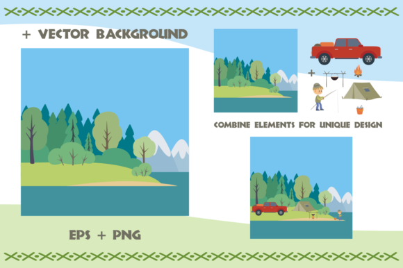 Print on Demand: Camping Life. Vector Cliparts. Graphic Illustrations By Olga Belova - Image 5