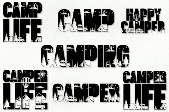 Print on Demand: Camping SVG Bundle Graphic Crafts By Anastasia Feya - Image 2