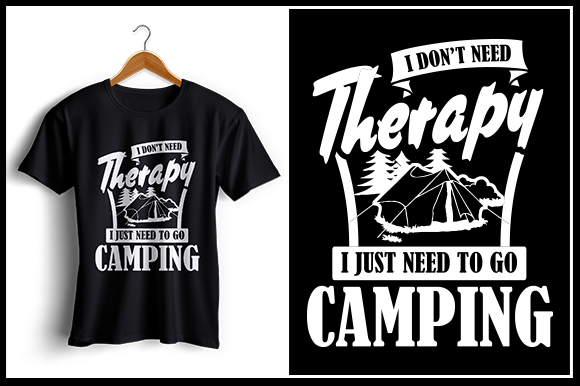 Print on Demand: Camping - Therapy Graphic Crafts By Zaibbb