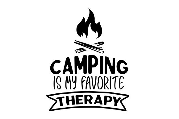 Camping is My Favorite Therapy Nature & Outdoors Craft Cut File By Creative Fabrica Crafts - Image 1
