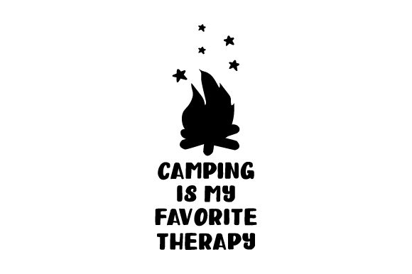 Camping is My Favorite Therapy Nature & Outdoors Craft Cut File By Creative Fabrica Crafts