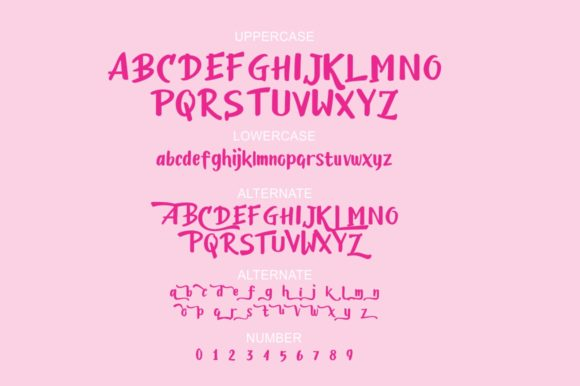 Print on Demand: Candylove Display Font By victoriant99 - Image 4