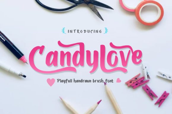 Print on Demand: Candylove Display Font By victoriant99